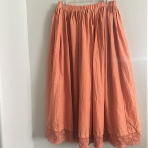 Styleworks apricot broomstick prairie skirt. Large